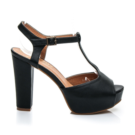 LITY BLACK BLOCK HEELS