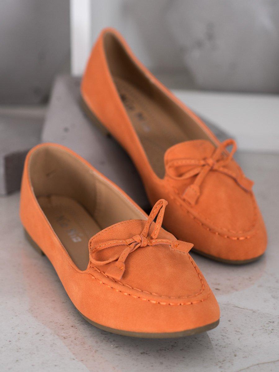 WYGODNE POMARAŃCZOWE MOKASYNY - odcienie pomarańczowego
