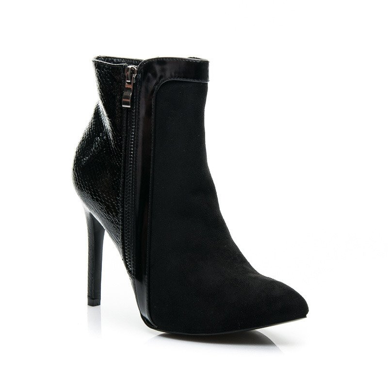 CZARNE BOTKI LUXURY BLACK HEELS